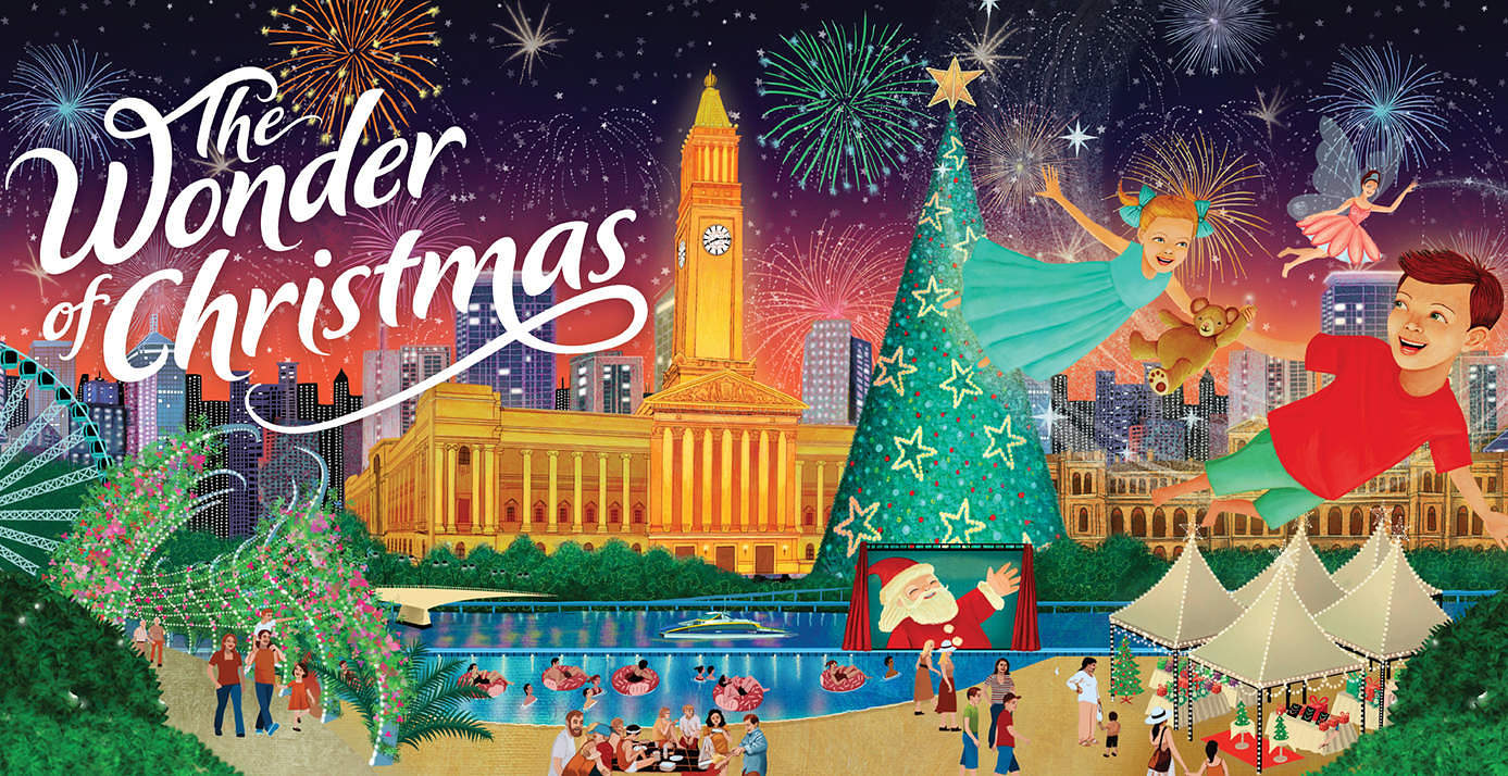 The Wonder of Christmas Brisbane. Image from Brisbane City Council
